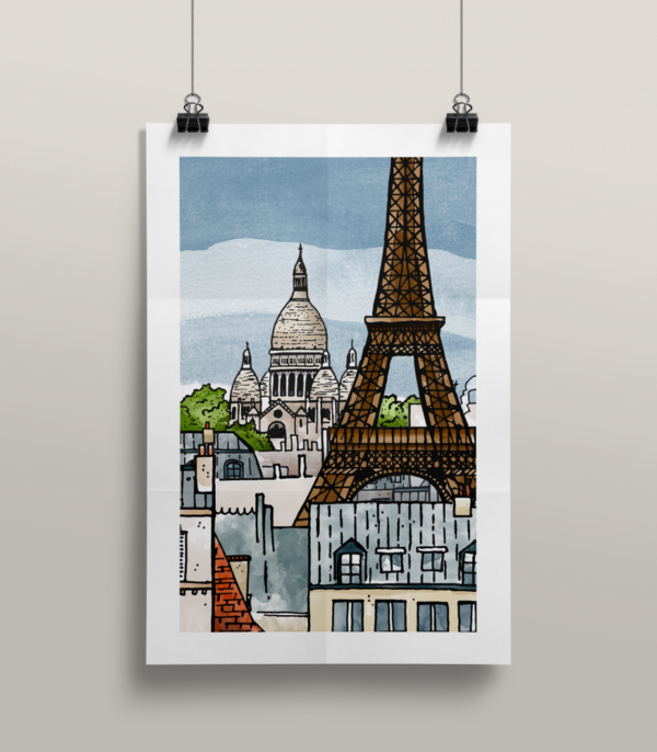 Affiche Paris illustration