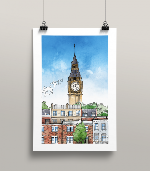 Affiche Londres illustration