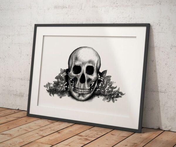 Vanité : crâne et lierre